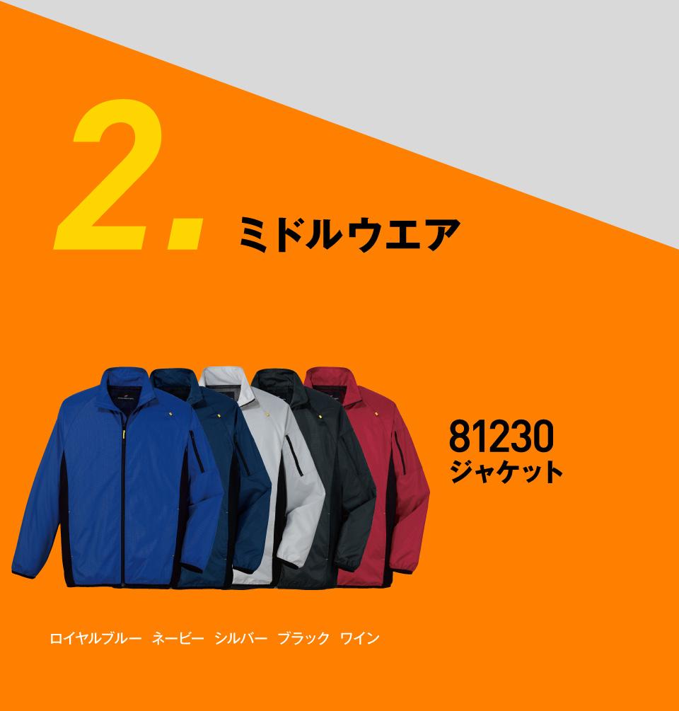 ミドルウエア 81230ジャケット 2,970円〜ポイント還元で実質2,376円